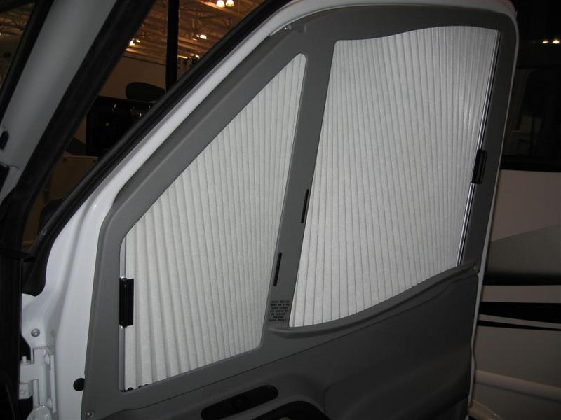 Side Window Blind Found On The 2008 Itasca Navion Shown